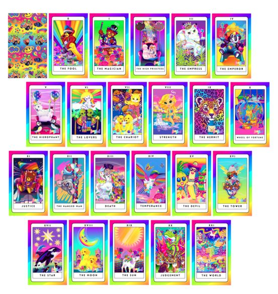 photo about Free Printable Tarot Card Deck named This Lisa Frank Tarot Deck Will Deliver Out Your Internal 5th