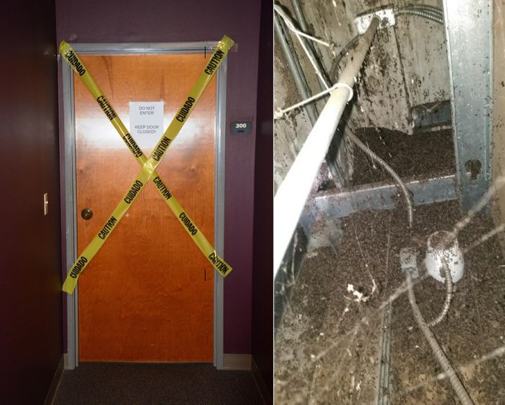 An office belonging to Florida's Department of Business and Professional Regulation Secretary was taped off after 10 pounds o