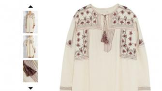 Isabel Marant's tunic, which was retailing for nearly $300 last year.