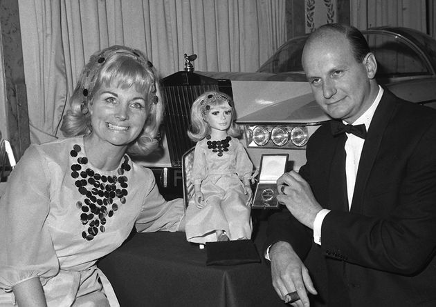 Sylvia pictured with her late husband, and ''Thunderbirds' co-creator Gerry, in