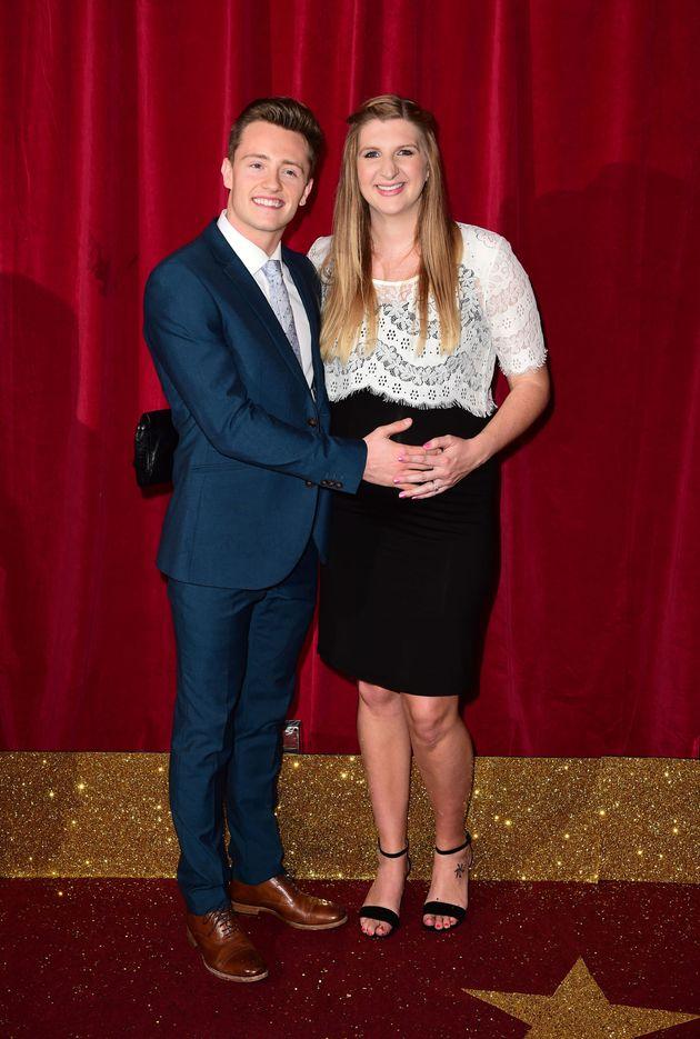 Rebecca Adlington and her husband Harry