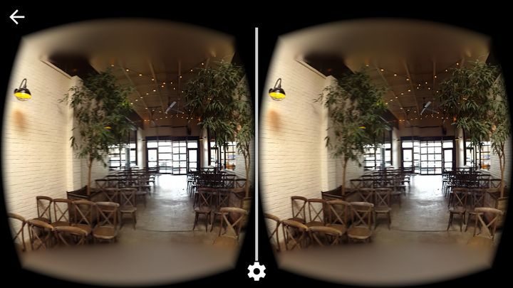 Views of an Atlanta event venue shot on Cardboard Camera. When you actually look at the photos in a headset, you can look aro
