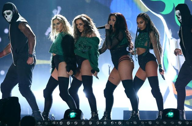 Little Mix performing at the Brit Awards last month AND WIPING THE FLOOR WITH ABSOLUTELY