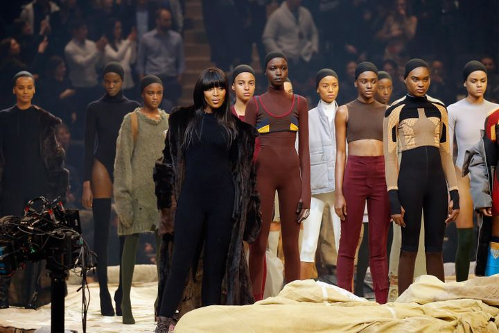 Models at the Kanye West Yeezy Season 3 show.