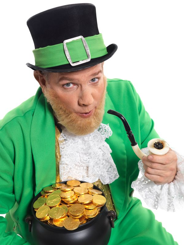 Prior to the 20th century, leprechauns were depicted wearing red, not green.