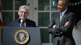 WASHINGTON, DC - MARCH 16:  Judge Merrick Garland speaks after being introduced by U.S. President Barack Obama as his nominee to the Supreme Court in the Rose Garden at the White House, March 16, 2016 in Washington, DC. Garland currently serves as the chief judge of the United States Court of Appeals for the District of Columbia Circuit and if confirmed by the US Senate, would replace the late Supreme Court Justice Antonin Scalia who died suddenly last month.  (Photo by Chip Somodevilla/Getty Images)