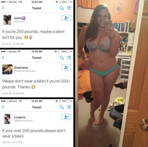 Sara Petty, 20, is shutting down body-shamers, one tweet at a