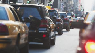 Street traffic, New York City, New York State, USA