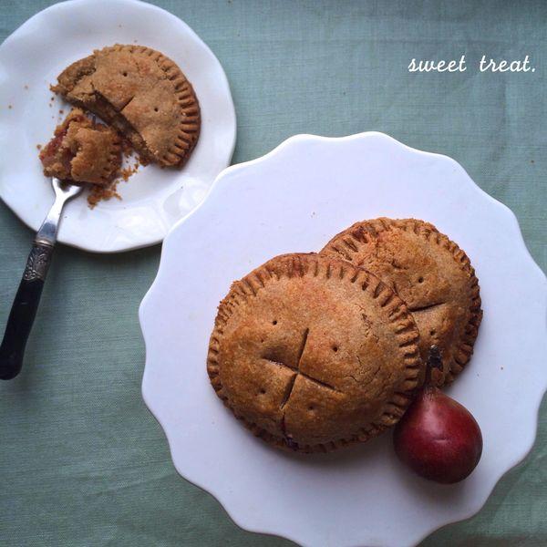 "Get the <a href=""http://lorimerkitchen.com/2013/10/28/pear-plum-pocket-pies/"" target=""_blank"">Pear Plum Pocket Pies recipe</a"
