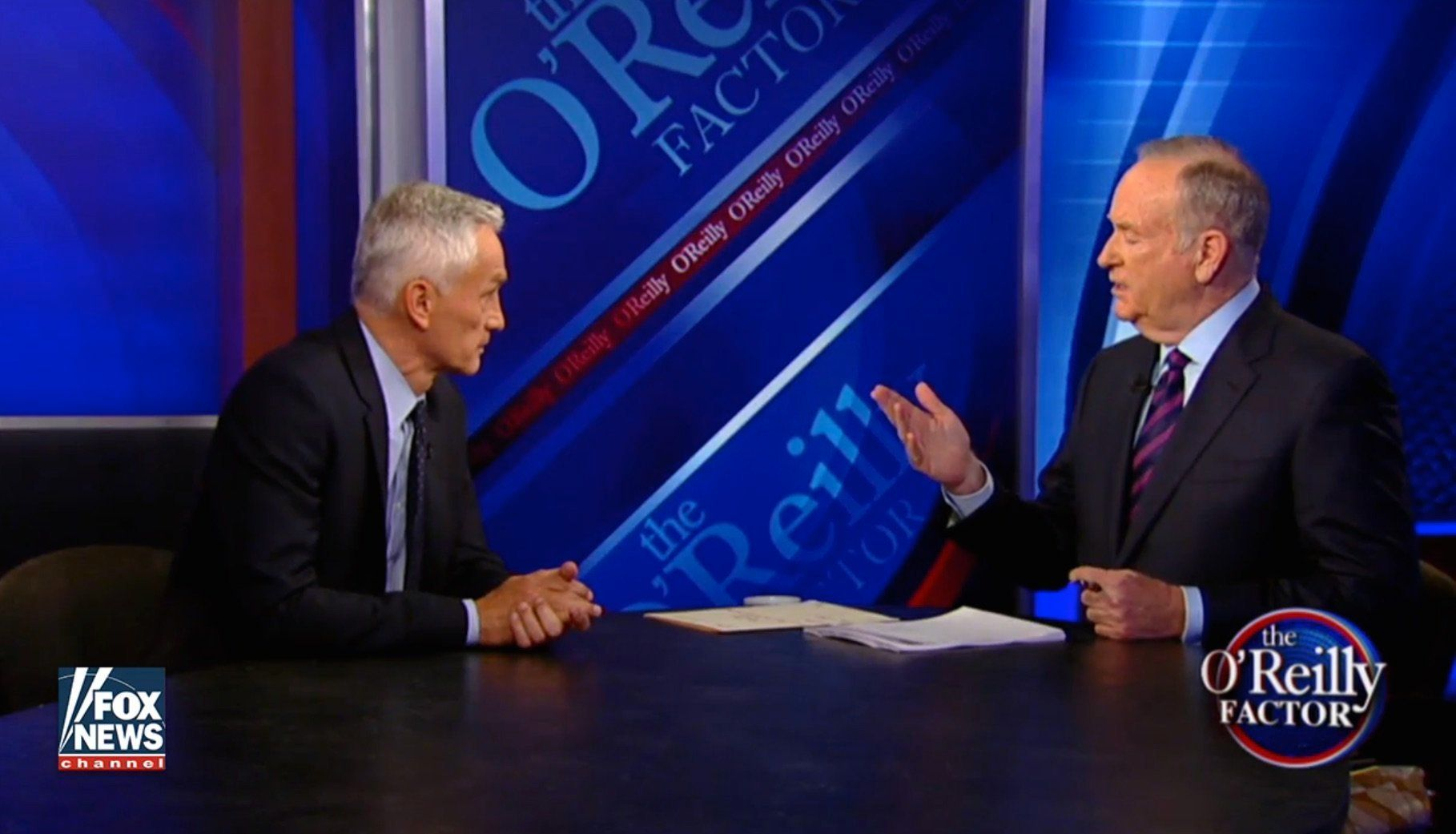 Jorge Ramos and Bill O'Reilly