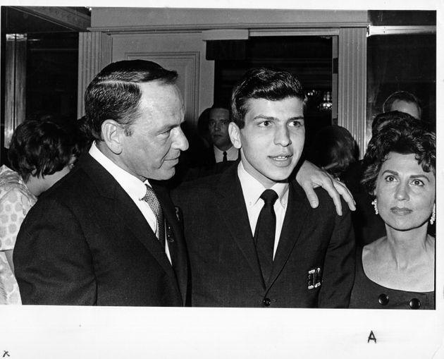 Frank Sinatra Junior pictured with his father and his ex-wife Nancy Sinatra
