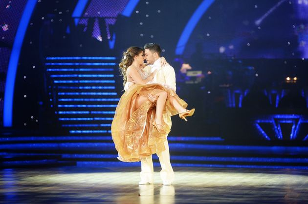 Giovanni and Georgia rehearsing for the 'Strictly' live