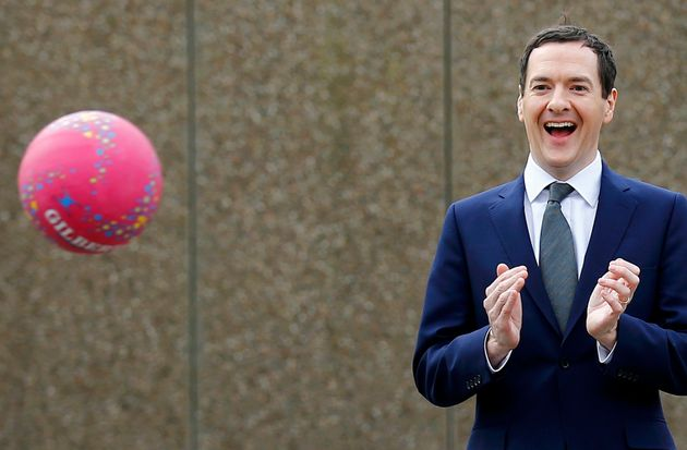George Osborne at a school in Yorkshire the day after he delivered his