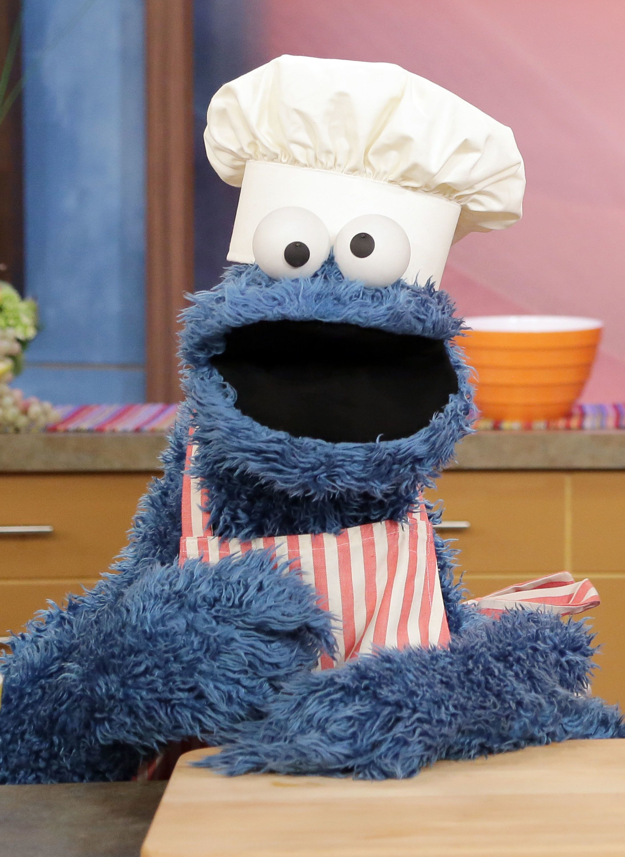 MIAMI, FL - JULY 12:  Cookie Monster is seen during Sesame Street's visit of Univision's 'Despierta America' at Univision Headquarters on July 12, 2013 in Miami, Florida. (Photo by Alexander Tamargo/WireImage)