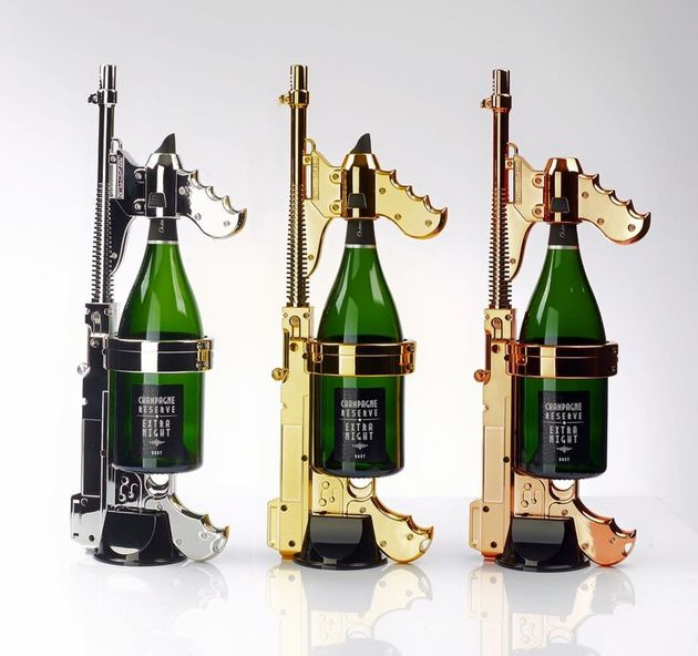 This Champagne Machine Gun Offers The Most Ridiculous Way To Waste