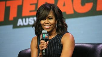 AUSTIN, TX - MARCH 16:  First Lady of the United States Michelle Obama speaks onstage at SXSW Keynote: Michelle Obama during the 2016 SXSW Music, Film + Interactive Festival at Austin Convention Center on March 16, 2016 in Austin, Texas.  (Photo by Neilson Barnard/Getty Images for SXSW)