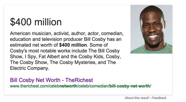 Google Confuses Kevin Hart and Bill