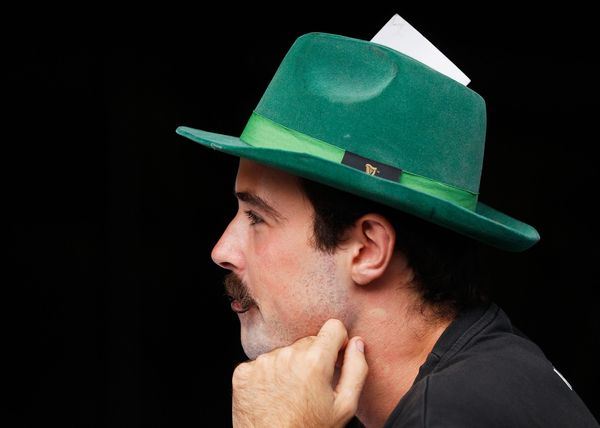 A patron is dressed for the St Patrick's Day occasion at the Mercantile Hotel Irish pub on March 17, 2016 in Sydney, Aus