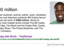 Google Thinks Kevin Hart Is Bill Cosby. For real