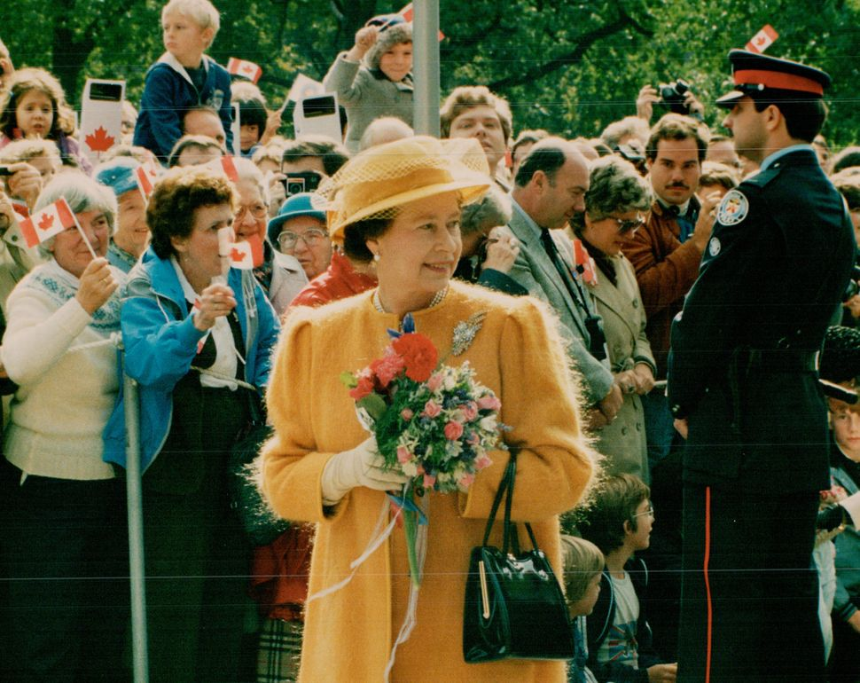 Queen Elizabeth and Prince Philip in Canada in 1984.