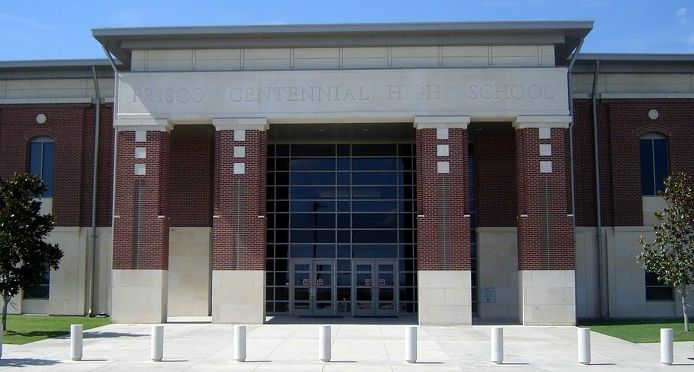 Centennial High School, where students say a football coach made racist comments to black and Latino students.