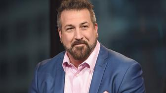 NEW YORK, NY - MARCH 14:  Joey Fatone discusses the film 'My Big Fat Greek Wedding 2' during AOL BUILD Series at AOL Studios In New York on March 14, 2016 in New York City.  (Photo by Gary Gershoff/WireImage)