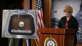 WASHINGTON, DC - JANUARY 28:  Sen. Debbie Stabenow (D-MI) prepare to speak about help for the families affected in Flint water crisis, during a news conference on Capitol Hill, January 28, 2016 in Washington, DC. The drinking water in Flint Michigan was contaminated with lead after the city switch its supply source 2 years ago.  (Photo by Mark Wilson/Getty Images)