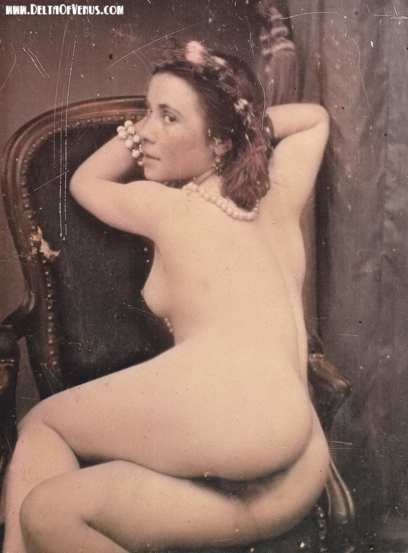 Vintage erotic daguerreotype from mid-late 1800s