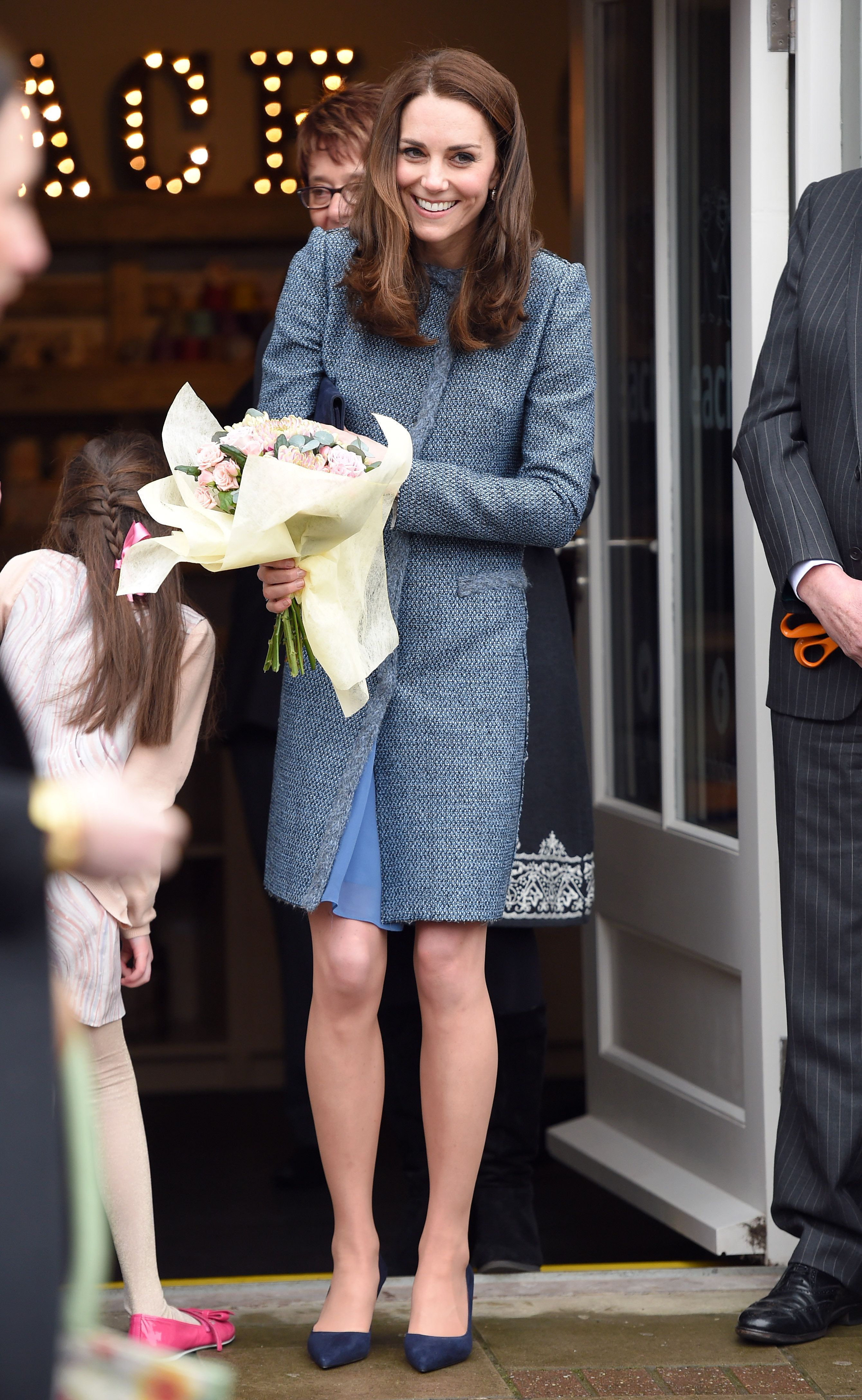 HOLT, NORFOLK - MARCH 18:  Catherine, Duchess Of Cambridge opens a new EACH Charity Shop on March 18, 2016 in Holt, Norfolk.  (Photo by Karwai Tang/WireImage)