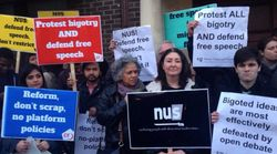 Protest Outside NUS HQ Against Group's No Platform Policy