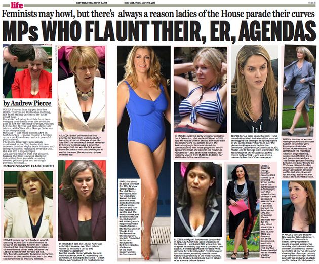 Daily Mail Scolded By Politicians For Cleavage Spread That Claimed MPs 'Parade Their
