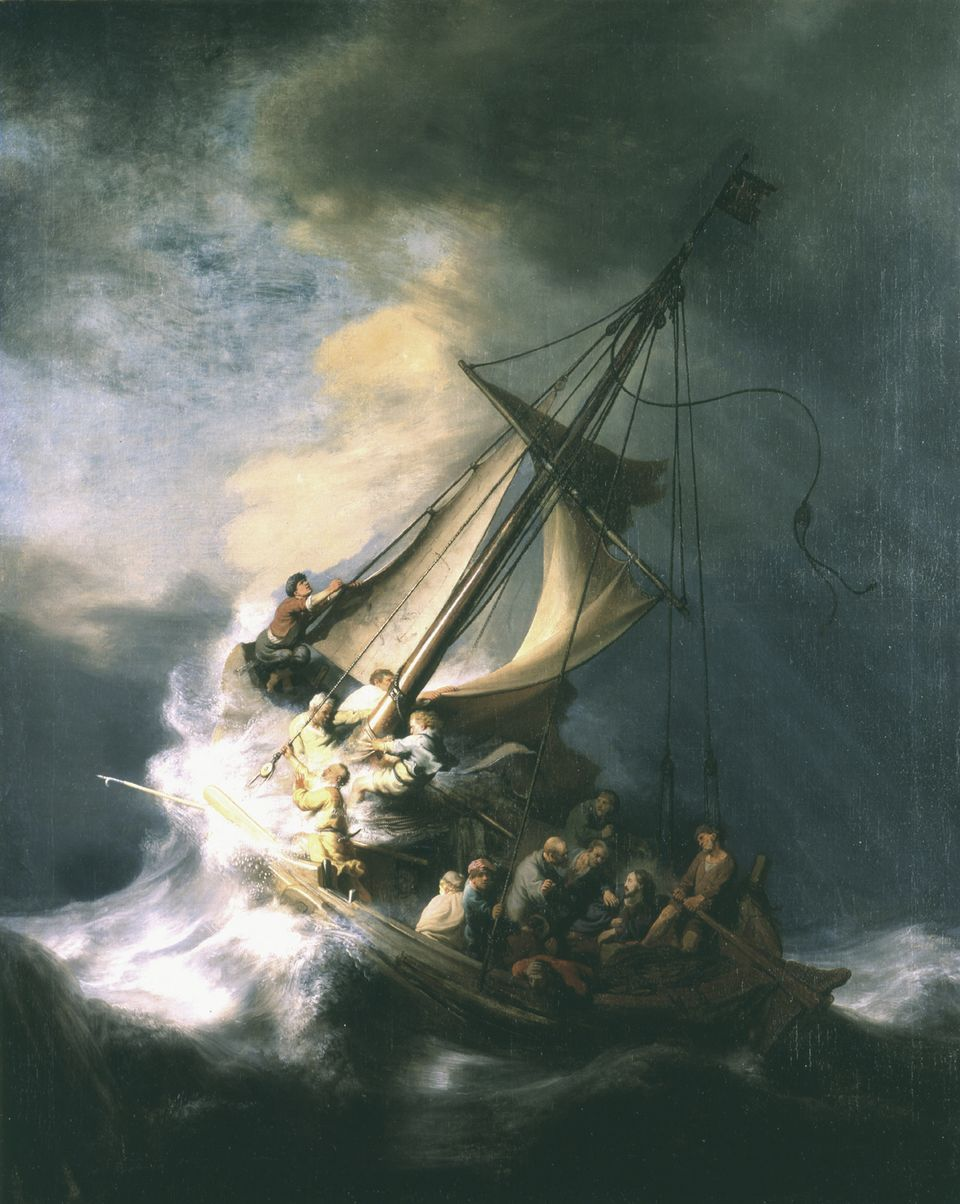 "Rembrandt van Rijn, ""Christ in the Storm on the Sea of Galilee"""