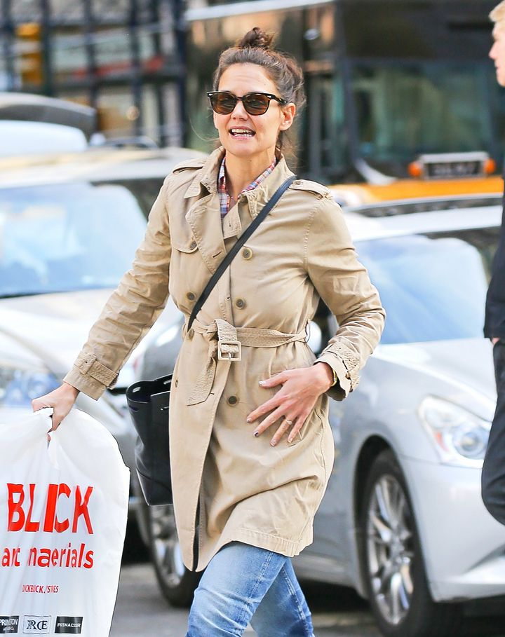 Katie Holmes out and about in New York City on March 17, 2016.