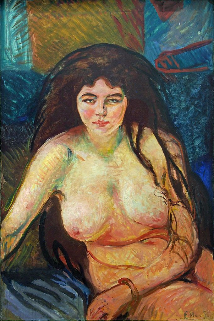 "Edvard Munch, ""Female Nude; The Beast,"" 1902"