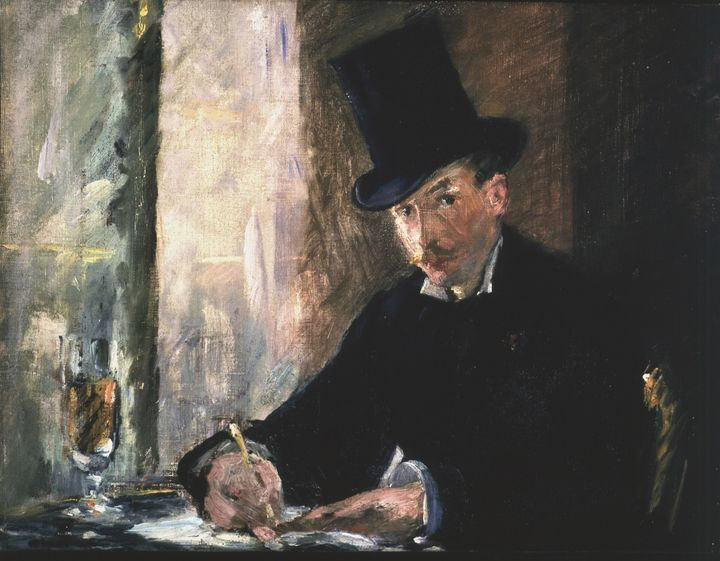 "Edouard Manet, ""Chez Tortoni,"" is one of 12 missing paintings from the Gardner museum."