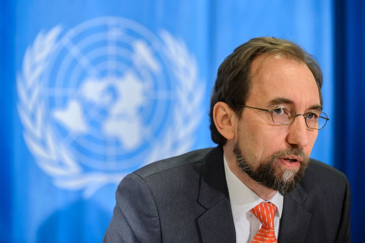 United Nations High Commissioner for Human Rights Zeid Ra'ad Al Hussein said Friday thethe Saudi-led coalition fighting