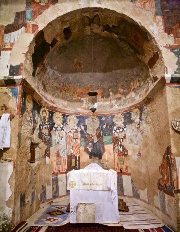 <strong>Before</strong>: This is an altar inside theSyriac Catholic Monastery of Saint Moses the Abyssinian, also known