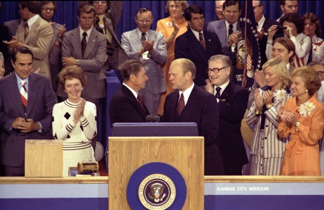 On Aug. 19, 1976, the closing night of the GOP convention in Kansas City, Missouri, President Gerald...