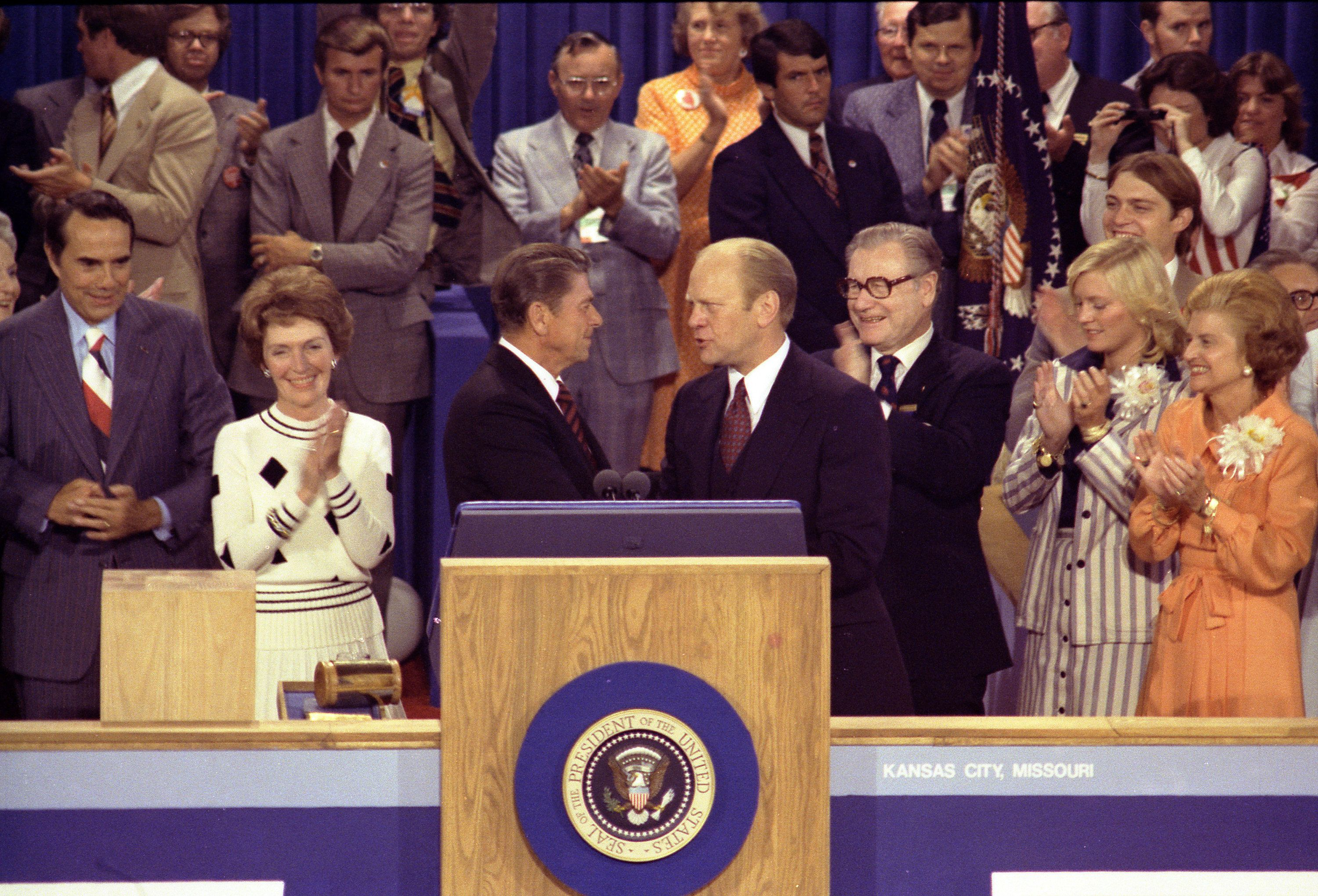 On Aug. 19, 1976, the closing night of the GOP convention in Kansas City, Missouri, President Gerald Ford thanked Ronald Reag