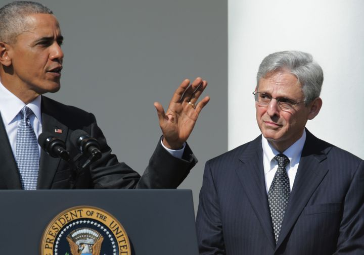 President Barack Obama introduces Merrick Garland as his nominee for the Supreme Court.
