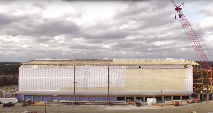 "The ark under construction at Ark Encounter, seen in a <a href=""https://www.youtube.com/watch?v=WKaYXXJBblU"" target=""_blank"">"