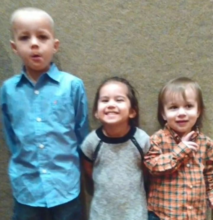An undated photo of Robert Moseley and Evie Kenworthy's three children, who disappeared with their parents on Feb. 27.