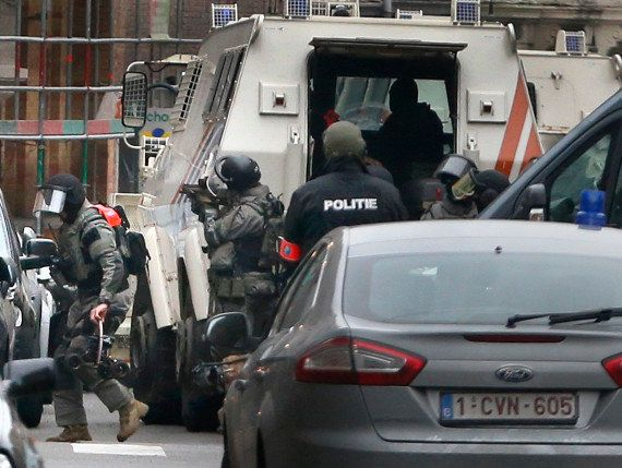 Armed police during the
