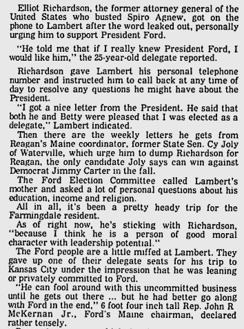 Bangor Daily News, June 18, 1976.
