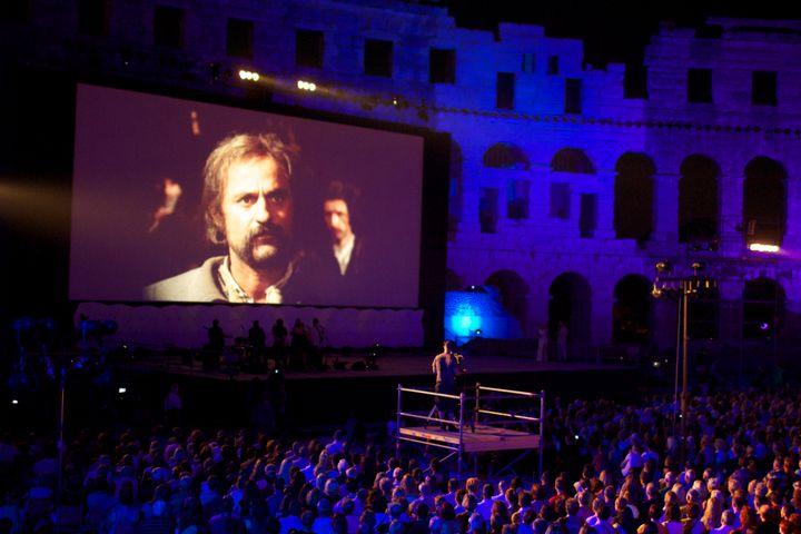 Pula International Film Festival screening inside the Pula Arena.