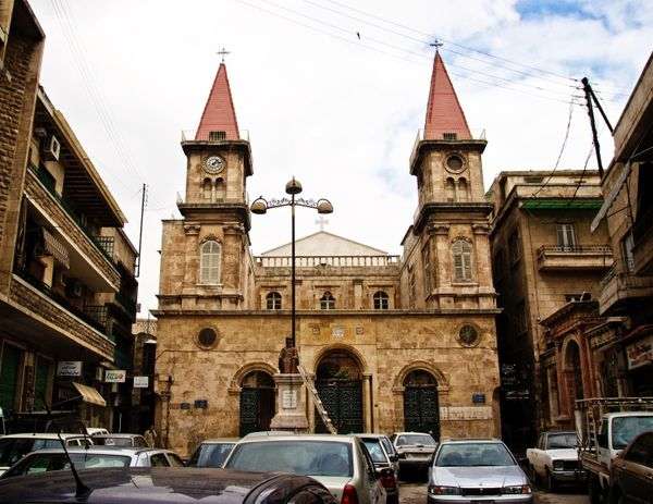 """<strong>Before</strong>: This is theSt. Elias Maronite Cathedral in Aleppo. In <a href=""""http://www.gettyimages.com/deta"""