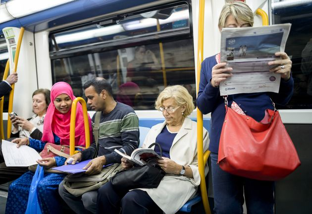 Manuela Carmena likes to read during her subway trip to work at Madrid's City