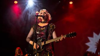 NEW YORK, NY - OCTOBER 17: English singer/songwriter Kate Nash performs during CMJ Music Marathon Festival 2015 at Bowery Ballroom on October 17, 2015 in New York City.  (Photo by Adela Loconte/Getty Images)