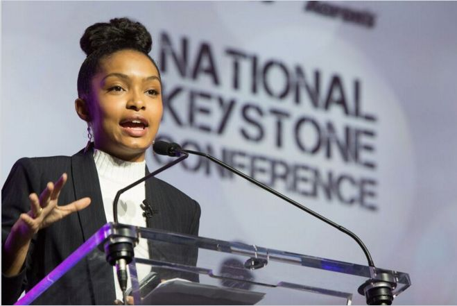 """Black-ish"" actress Yara Shahidi addressed 2,500 on Thursday evening at the Boys and Girls Club 2016 Keystone Conference"