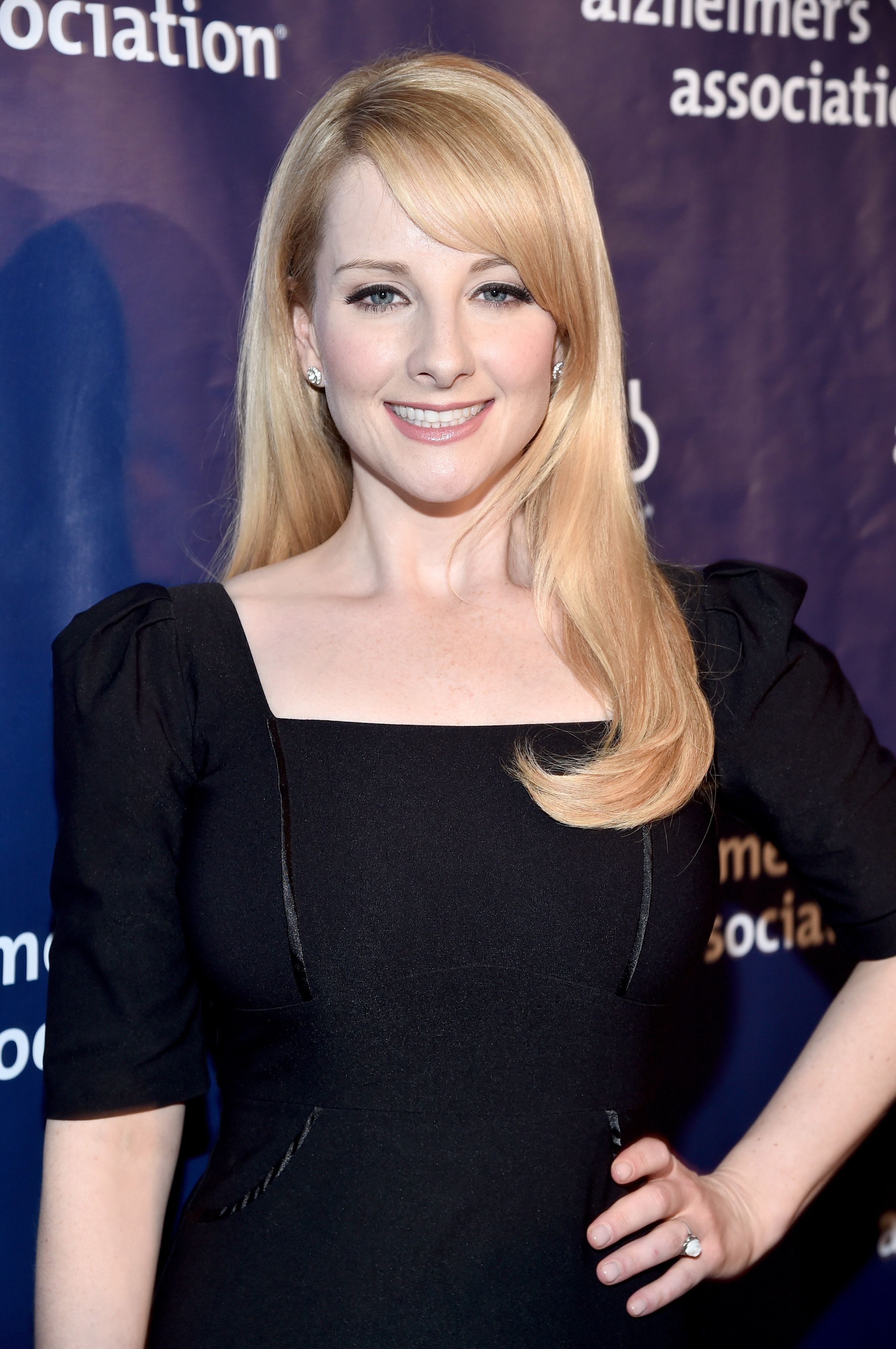 BEVERLY HILLS, CA - MARCH 09:  Actress Melissa Rauch attends the 24th and final 'A Night at Sardi's' to benefit the Alzheimer's Association at The Beverly Hilton Hotel on March 9, 2016 in Beverly Hills, California.  (Photo by Alberto E. Rodriguez/Getty Images)